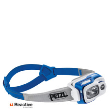 Petzl SWIFT RL 900 Lumens Blue Headlamp Lightweight Men's Women's Running Lamps