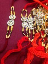 4 Silver Diamanté Rakhi Thread Rakhri Raksha Bandhan Dora-Hindu Indian Festival