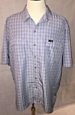 Columbia GRT Men's Omni Dry Blue Plaid Short Sleeve Button Up Shirt Size XXL