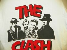 VINTAGE 1980'S THE CLASH WHITE CONCERT TEE