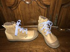 Palladium Pampa Side Zipper Children's Brown Leather suede Boots Size US 3