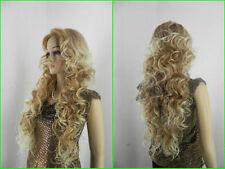 USJF290  very beautiful long blonde mix health Wavy hair Wig wigs for women