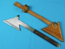 Vintage Us Olsen Vtg 410 Ok Hunting Throwing Axe Hatchet w/ Sheath