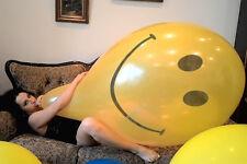 4x 36-40 inch China **Smiley Print** Yellow- riesen luftballon looner