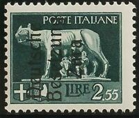 Zara. MNH Yv 13. 1943. 2´ 55 Lire Grey Green (Type I) . Magnifico And Very