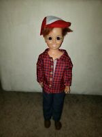 "Vintage 1969 Ideal Toy Corp Tomboy CRISSY Red Hair 17"" Doll GH-18"