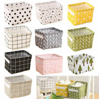Foldable Storage Bin Closet Toy Box Container Organizer Linen Fabric Basket NEU