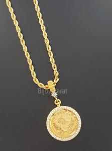 22 Ayar Altin Kaplama Kolye Osmanli Tugra Goldkette Kolye Zirkonia Halskette