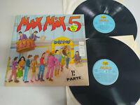 "MAX MIX 5 Parte 1 - Mega Mix Spain Edit 1987 - 2 X LP vinyl 12 "" VG/VG - 3T"