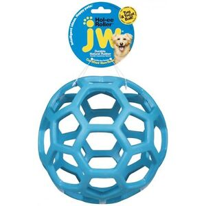 JW Pet Hol-ee Holee Roller Durable Rubber Lattice Ball Dog Toy -Large Size 6.5