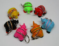 Set Of 7 Fabric Key Chain Animal And Modern (1970-Now) Thai Multi Color Handmade