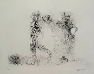 "HANS BELLMER ""Les Quatre Filles"" Hand Signed Numbered Etching NUDE WOMEN ART"