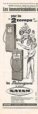 PUBLICITE ADVERTISING  1961   SATAM   les mélangeurs de carburant