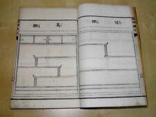 BEL ET RARE OUVRAGE JAPONAIS EBENISTERIE CHARPENTERIE  46 Estampes Placards 1885