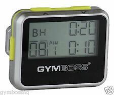 GYMBOSS INTERVAL TIMER & STOPWATCH SILVER / YELLOW METALLIC GLOSS FR GYMBOSS HQ