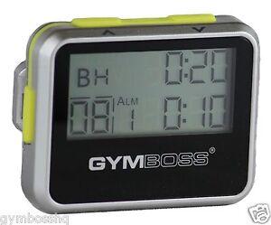 GYMBOSS INTERVAL TIMER & STOPWATCH SILVER / YELLOW METALLIC GLOSS FR GYMBOSS HQ