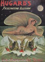 "MAGIC HUGARD NUDE GIRL BIRTH SEA NYMPH FISH VINTAGE POSTER REPRO POSTER 20""X30"""