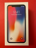 RETAIL BOX ONLY: iPhone X 64GB Space Gray w/ inserts NO PHONE, NO CHARGER