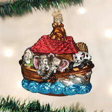OLD WORLD CHRISTMAS NOAH'S ARK GLASS CHRISTMAS ORNAMENT 12395