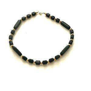 Estate Trifari Chain Necklace /& Black Bead Bracelet