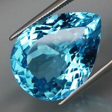 20.62Ct.Ravishing Color HUGE Swiss Blue Topaz Brazil Full Sparkling&Eye Clean!