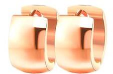 ROSE GOLD HUGGIE HOOP EARRINGS 13MM FOR MEN & WOMEN