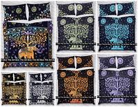 Indian Mandala Cotton Bohemian Doona Duvet Quilt Bedding Ethnic Reversible Cover
