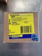 New In Box Qob3100 Square D 100a 120240v 3 Pole Breaker 10 Ka