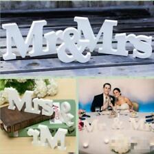 Mr & Mrs Freestanding Wedding Party Sign Plaque Decoration Centrepiece Decor B