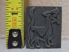 Vintage Animal Logo Metal & Wood Letterpress Printing Block