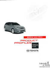 2004 Toyota Matrix Product Dealer Reference Sales Car Guide Brochure