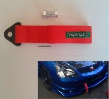 RED UNIVERSAL TAKATA HIGH STRENGTH  RED RACING SPORTS TOW STRAP TOW HOOK
