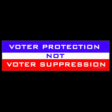 Voter Protection Not Voter Suppression BUMPER STICKER or MAGNET voting rights