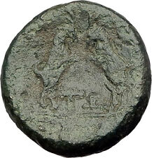 AMPHIPOLIS in MACEDONIA 148BC RARE R1 Ancient Greek Coin ARTEMIS & GOATS i62444