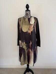 Omioso Feather Swing Tee Dress AU 14 Women Melbourne Label EUC Long Sleeves