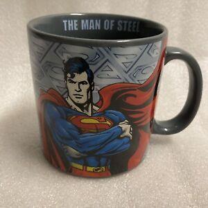 "Superman ""The Man Of Steel"" DC Comics 20 oz Large Coffee Mug Cup NEW"