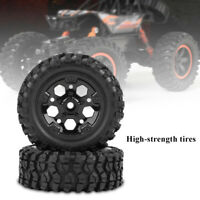 2pcs/Set Tires with Hubs Wheel for HG P402/P601 1:10 RC Car/Crawler/Jeep
