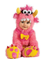 Adorable Fluffy Pinky Winky Monster Romper & Headpiece Costume, Rubies
