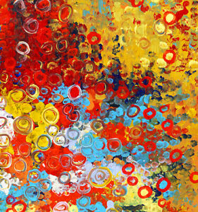HUGE 90cm by 90cm Original Painting,  Abstract Contemporary Thick Texture