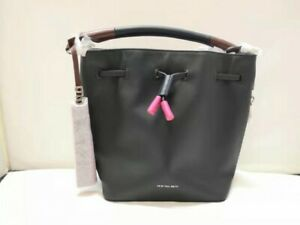 New Authentic Paul Smith's Women Leather Mini Bucket Bag Black