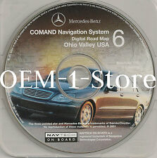 2001 MERCEDES S430 S500 S600 S55 AMG NAVIGATION MAP CD 6 OHIO VALLEY KY WV OH PA