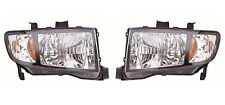 NEW Left & Right Genuine Headlights Headlamps Pair Set For Honda Ridgeline 09-14