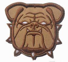 BROWN BULLDOG Mascot Army Marine USMC Devil Dogs EMBROIDER Hk/Lp Morale Patch