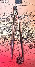 "Rare Antique Caliper Compass Divider Old Nautical/navigational Brass Tool 5"" 9"""