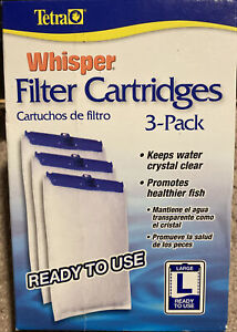 """Tetra Whisper FILTER CARTRIDGES """"L"""" LARGE Activated Carbon (3 Pack)"""