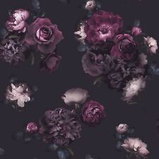 EUPHORIA FLORAL WALLPAPER FLOWERS PURPLE PLUM 697500 ARTHOUSE