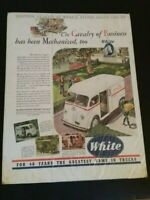 Vintage Whtie Horse Truck Car Advertisement 1940's Paper Ad Sign