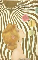 Raphael Kirchner - Artist Signed Lady Smells Flowers 04.77