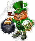 "Leprechaun Pot Of Gold Irish Beer Ale Pub Car Bumper Vinyl Sticker Decal 4""X5"""