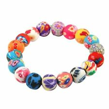 Polymer Clay Bead Bracelet Boho Bohemian Jewellery Gift for Him Her A292